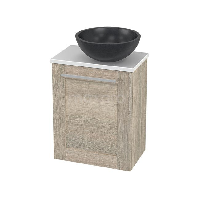 Toiletmeubel met Waskom Natuursteen Modulo+ Pico Eiken 41cm BMC000867