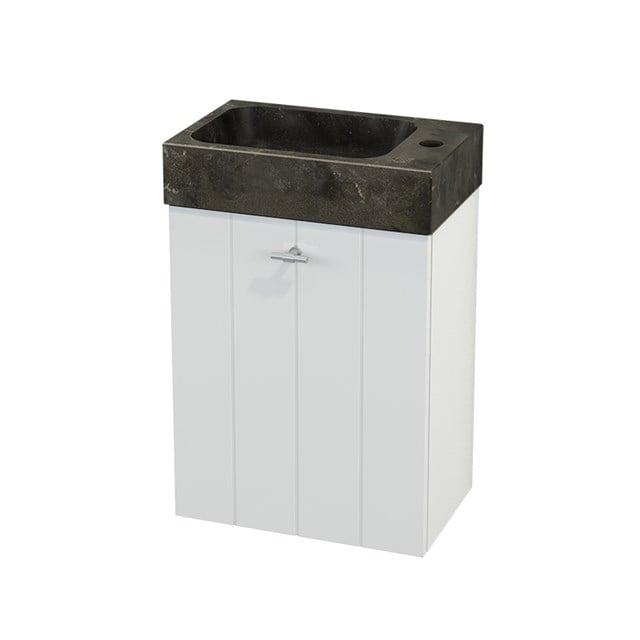 Toiletmeubel met Wastafel Natuursteen Modulo+ Pico Hoogglans Wit 40cm BMC001022