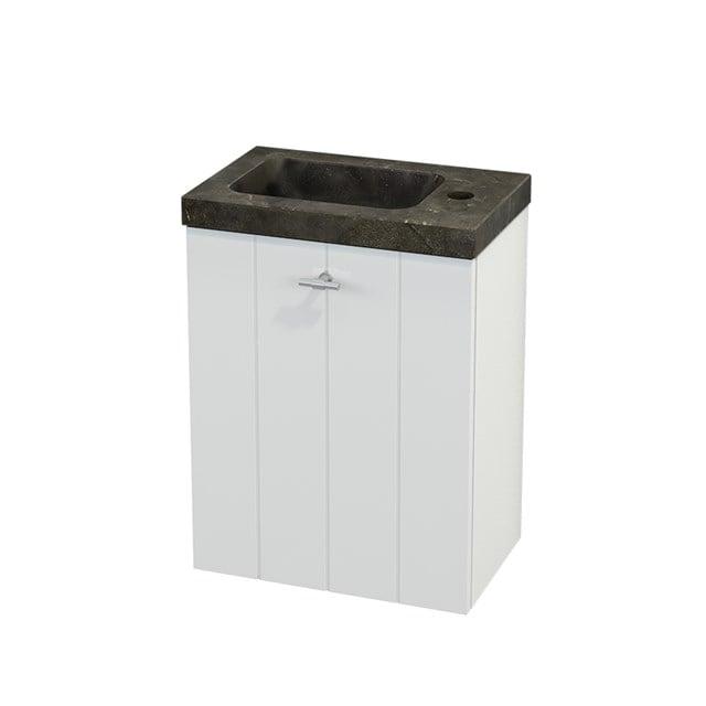 Toiletmeubel met Wastafel Natuursteen Modulo+ Pico Hoogglans Wit 40cm BMC001024