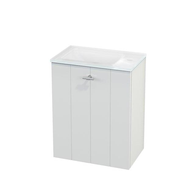 Toiletmeubel met Wastafel Glas Modulo+ Pico Hoogglans Wit 40cm BMC001026