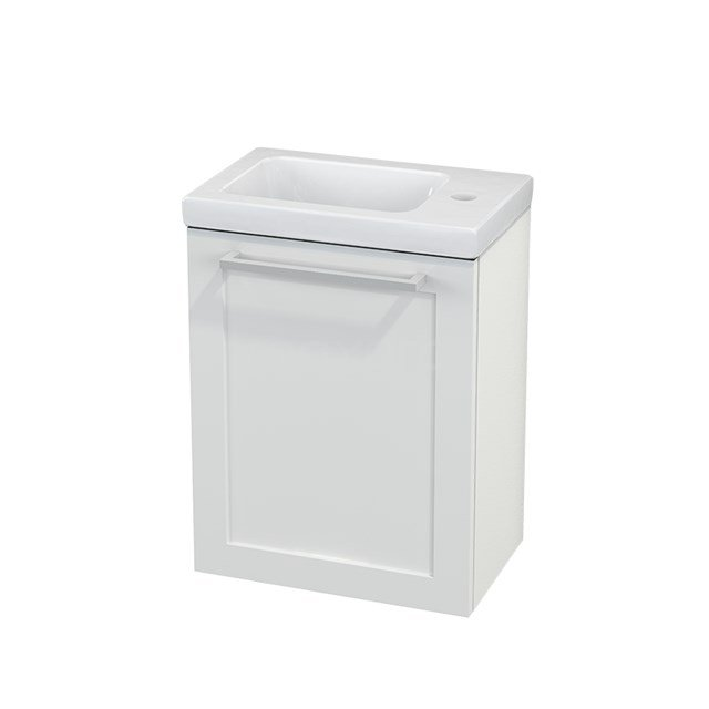 Toiletmeubel met Wastafel Keramiek Modulo+ Pico Hoogglans Wit 40cm BMC001029