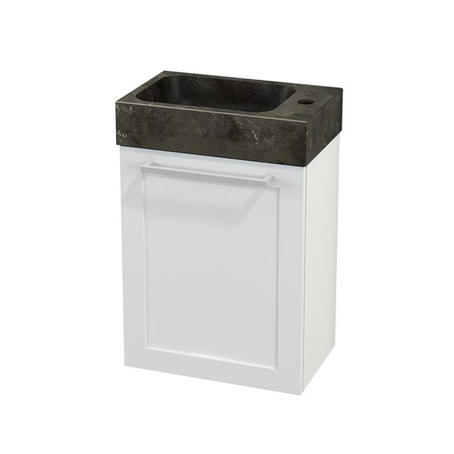 Toiletmeubel met Wastafel Natuursteen Modulo+ Pico Hoogglans Wit 40cm BMC001030