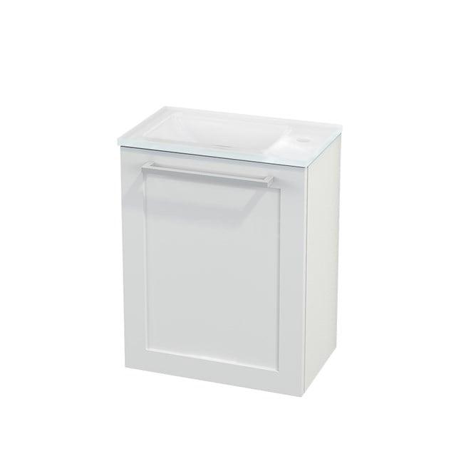 Toiletmeubel met Wastafel Glas Modulo+ Pico Hoogglans Wit 40cm BMC001034