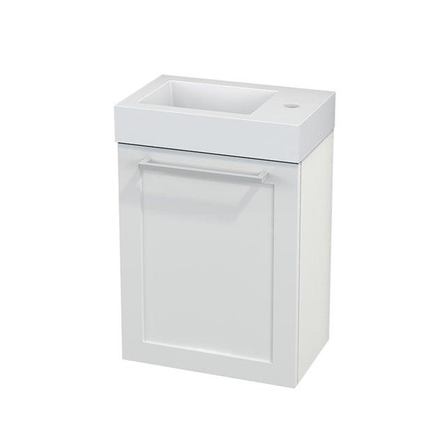 Toiletmeubel met Wastafel Mineraalmarmer Modulo+ Pico Hoogglans Wit 40cm BMC001035