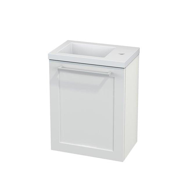 Toiletmeubel met Wastafel Mineraalmarmer Modulo+ Pico Hoogglans Wit 40cm BMC001036