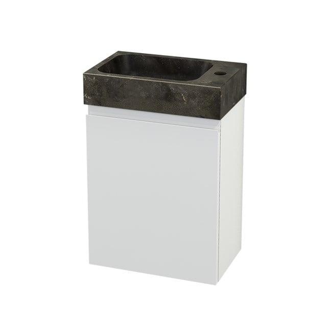 Toiletmeubel met Wastafel Natuursteen Modulo+ Pico Hoogglans Wit 40cm BMC001038