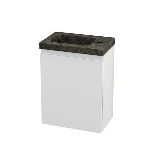 Toiletmeubel met Wastafel Natuursteen Modulo+ Pico Hoogglans Wit 40cm BMC001040