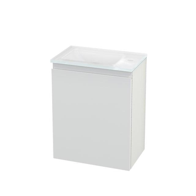 Toiletmeubel met Wastafel Glas Modulo+ Pico Hoogglans Wit 40cm BMC001042