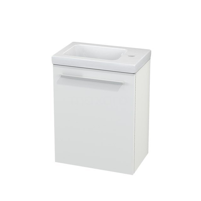 Toiletmeubel met Wastafel Keramiek Modulo+ Pico Mat Wit 40cm BMC001045