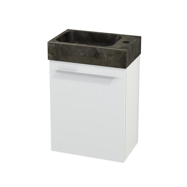 Toiletmeubel met Wastafel Natuursteen Modulo+ Pico Mat Wit 40cm BMC001046