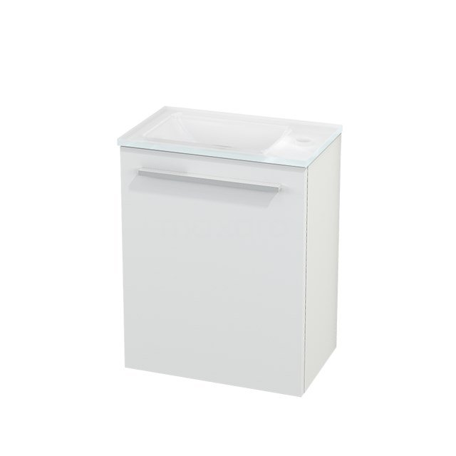 Toiletmeubel met Wastafel Glas Modulo+ Pico Mat Wit 40cm BMC001050