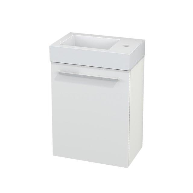 Toiletmeubel met Wastafel Mineraalmarmer Modulo+ Pico Mat Wit 40cm BMC001051
