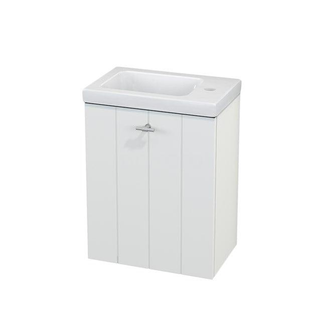 Toiletmeubel met Wastafel Keramiek Modulo+ Pico Mat Wit 40cm BMC001053