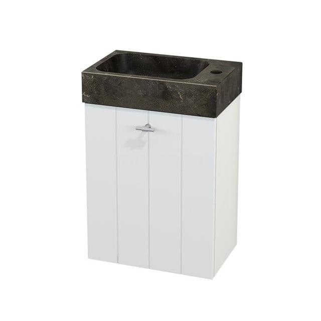 Toiletmeubel met Wastafel Natuursteen Modulo+ Pico Mat Wit 40cm BMC001054