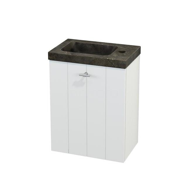 Toiletmeubel met Wastafel Natuursteen Modulo+ Pico Mat Wit 40cm BMC001056