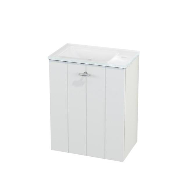 Toiletmeubel met Wastafel Glas Modulo+ Pico Mat Wit 40cm BMC001058