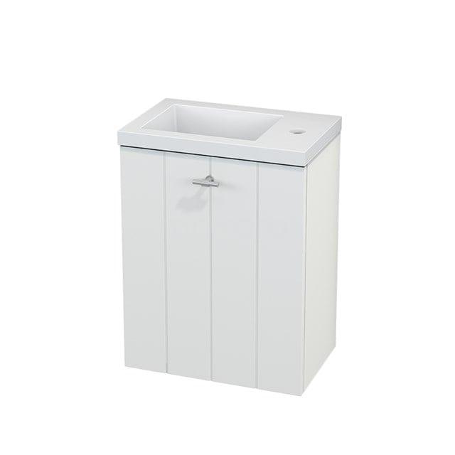 Toiletmeubel met Wastafel Mineraalmarmer Modulo+ Pico Mat Wit 40cm BMC001060