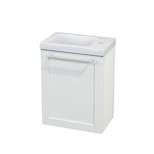 Toiletmeubel met Wastafel Keramiek Modulo+ Pico Mat Wit 40cm BMC001061