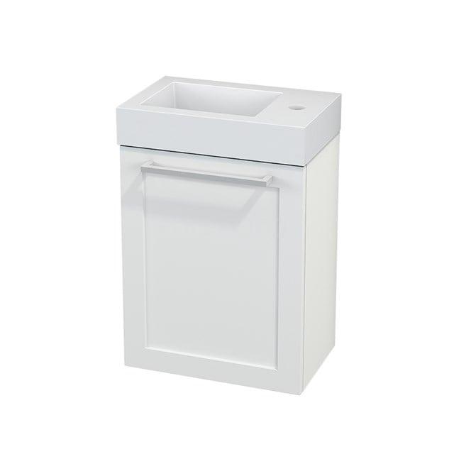 Toiletmeubel met Wastafel Mineraalmarmer Modulo+ Pico Mat Wit 40cm BMC001067