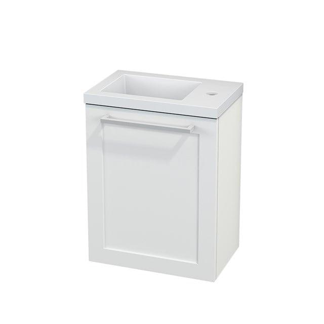 Toiletmeubel met Wastafel Mineraalmarmer Modulo+ Pico Mat Wit 40cm BMC001068