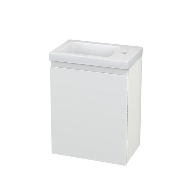Toiletmeubel met Wastafel Keramiek Modulo+ Pico Mat Wit 40cm BMC001069