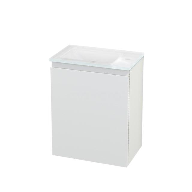 Toiletmeubel met Wastafel Glas Modulo+ Pico Mat Wit 40cm BMC001074