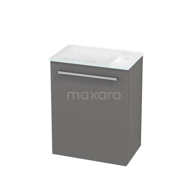 Toiletmeubel met Wastafel Glas Modulo+ Pico Basalt 40cm BMC001082
