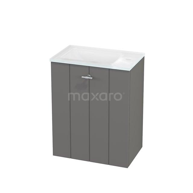 Toiletmeubel met Wastafel Glas Modulo+ Pico Basalt 40cm BMC001090
