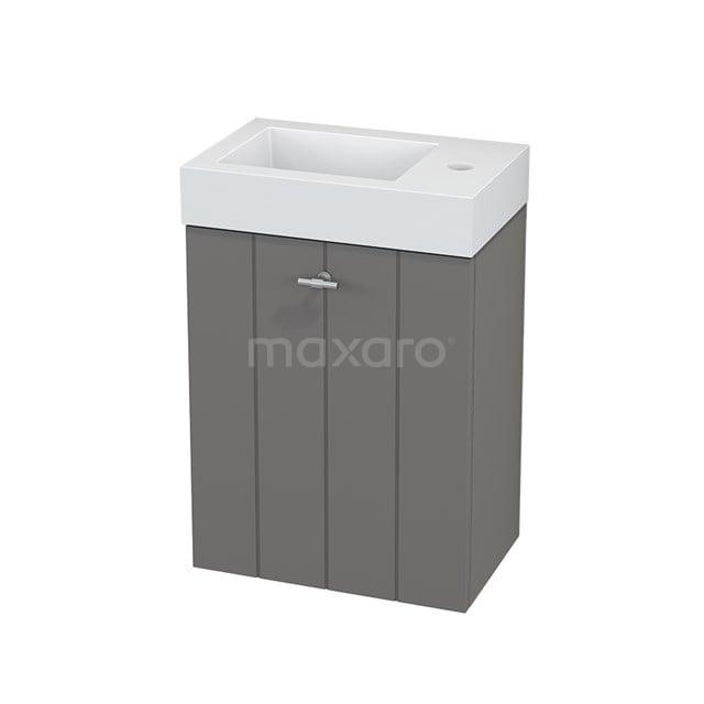 Toiletmeubel met Wastafel Mineraalmarmer Modulo+ Pico Basalt 40cm BMC001091