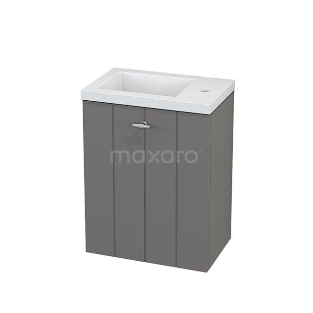 Toiletmeubel met Wastafel Mineraalmarmer Modulo+ Pico Basalt 40cm BMC001092
