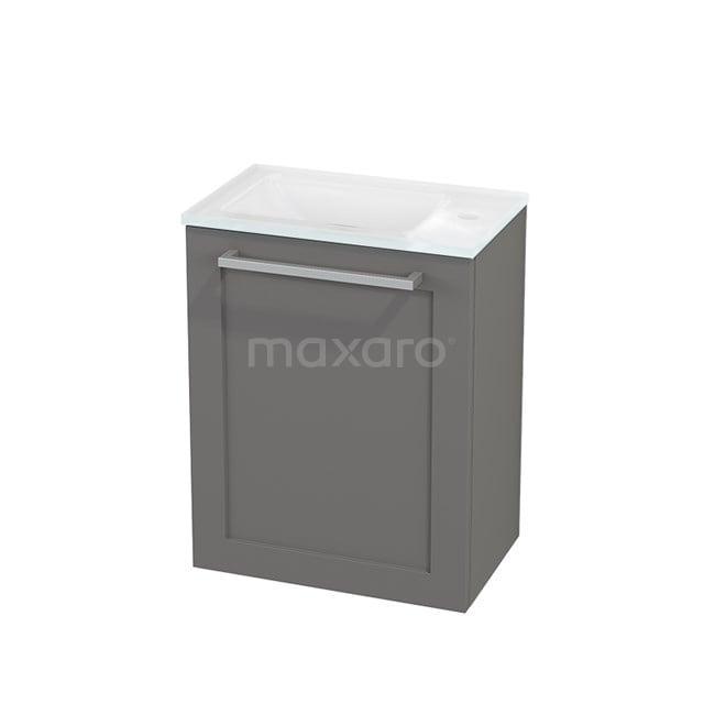 Toiletmeubel met Wastafel Glas Modulo+ Pico Basalt 40cm BMC001098
