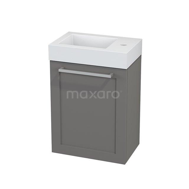 Toiletmeubel met Wastafel Mineraalmarmer Modulo+ Pico Basalt 40cm BMC001099