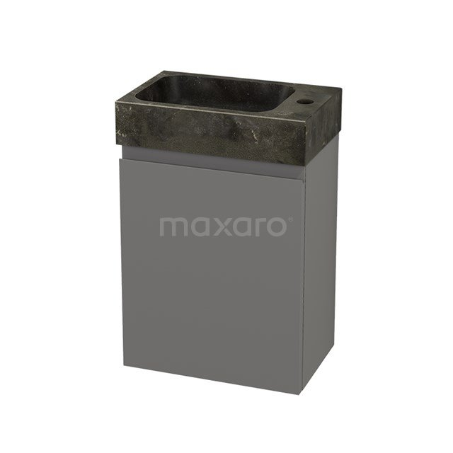 Toiletmeubel met Wastafel Natuursteen Modulo+ Pico Basalt 40cm BMC001102