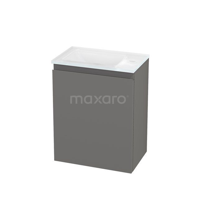 Toiletmeubel met Wastafel Glas Modulo+ Pico Basalt 40cm BMC001299