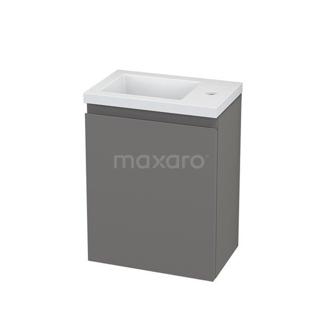 Toiletmeubel met Wastafel Mineraalmarmer Modulo+ Pico Basalt 40cm BMC001108