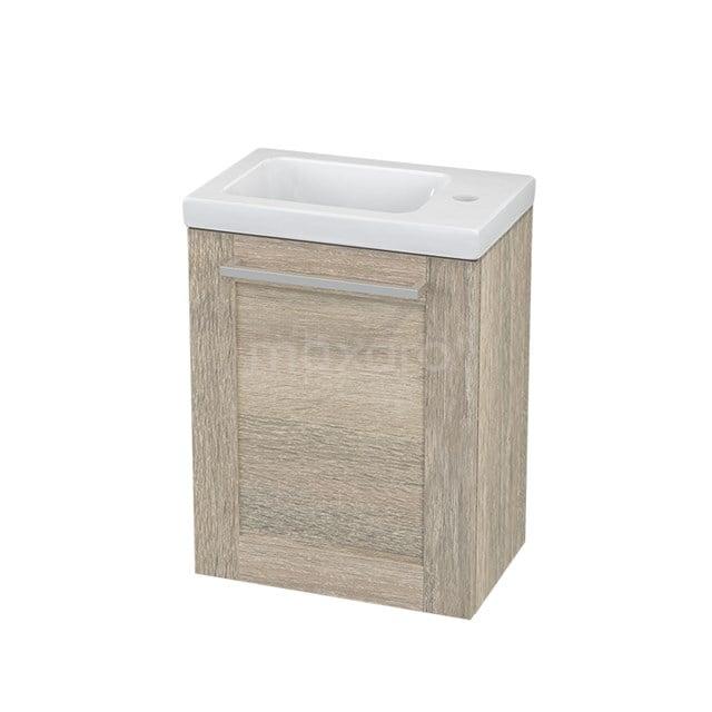 Toiletmeubel met Wastafel Keramiek Modulo+ Pico Eiken 40cm BMC001149
