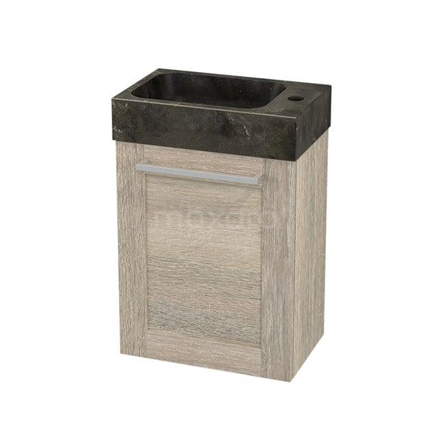 Toiletmeubel met Wastafel Natuursteen Modulo+ Pico Eiken 40cm BMC001150