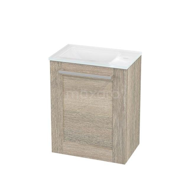 Toiletmeubel met Wastafel Glas Modulo+ Pico Eiken 40cm BMC001154