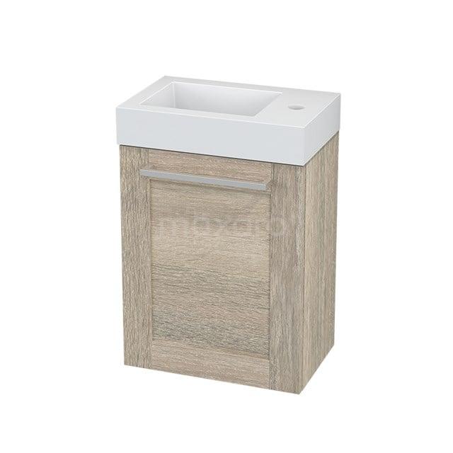 Toiletmeubel met Wastafel Mineraalmarmer Modulo+ Pico Eiken 40cm BMC001155