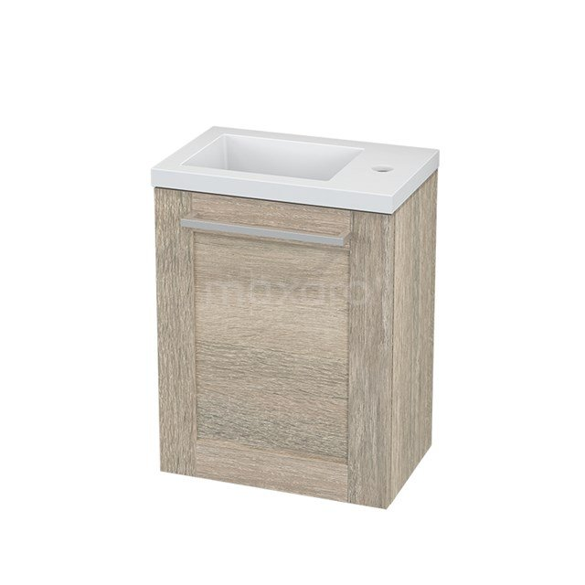 Toiletmeubel met Wastafel Mineraalmarmer Modulo+ Pico Eiken 40cm BMC001156