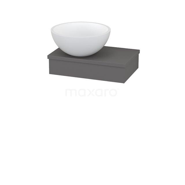 Plateau met Waskom Solid Surface Mat Modulo+ Pico Basalt 40cm BMC001168