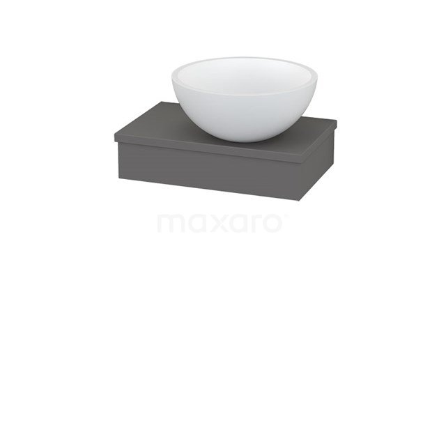 Plateau met Waskom Solid Surface Mat Modulo+ Pico Basalt 40cm BMC001189