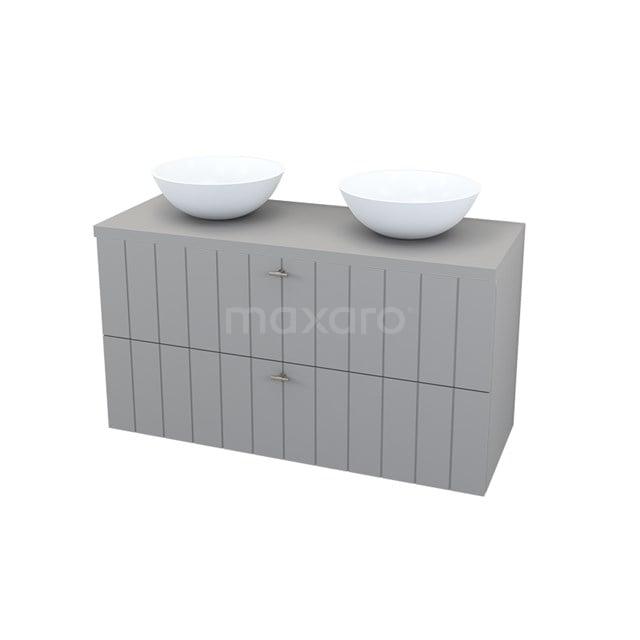 Badkamermeubel voor Waskom 120cm Modulo+ Plato Titaan 2 Lades Lamel BMK000066