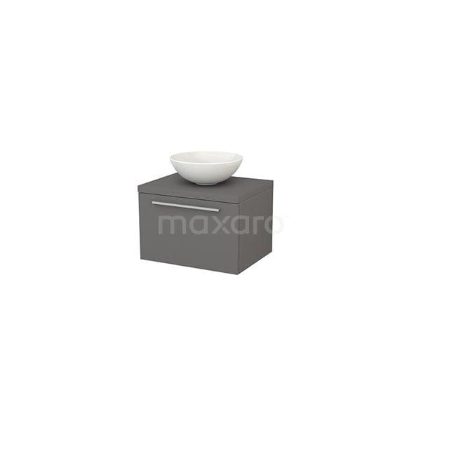 Badkamermeubel voor Waskom 60cm Modulo+ Plato Basalt 1 Lade Vlak BMK001050