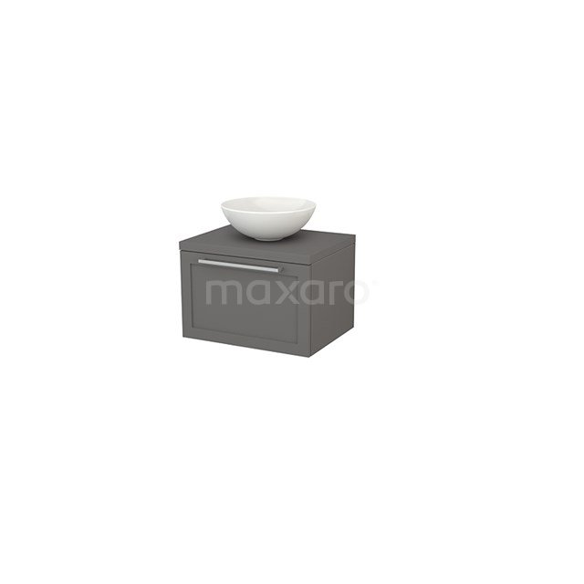 Badkamermeubel voor Waskom 60cm Modulo+ Plato Basalt 1 Lade Kader BMK001056