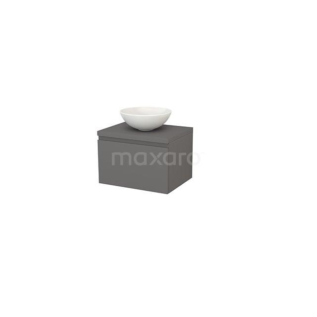 Badkamermeubel voor Waskom 60cm Modulo+ Plato Basalt 1 Lade Greeploos BMK001059