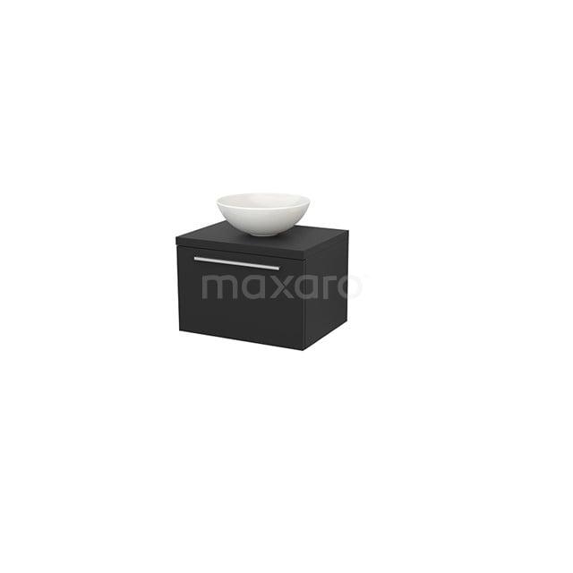 Badkamermeubel voor Waskom 60cm Modulo+ Plato Carbon 1 Lade Vlak BMK001062