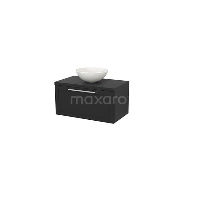 Badkamermeubel voor Waskom 80cm Modulo+ Plato Carbon 1 Lade Kader BMK001248