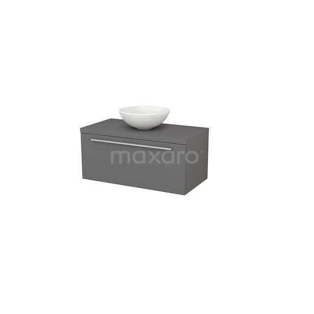 Badkamermeubel voor Waskom 90cm Modulo+ Plato Basalt 1 Lade Vlak BMK001320