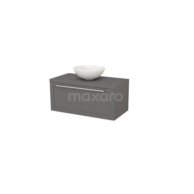 Badkamermeubel voor Waskom 90cm Modulo+ Plato Basalt 1 Lade Kader BMK001326